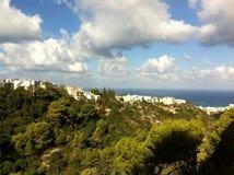 Haifa seaview. From mount Carmel Stock Images