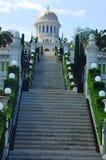 Haifa skönheten av de Baha'i trädgårdarna. Arkivbilder