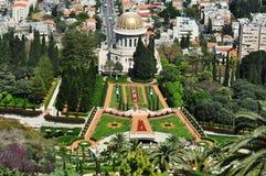 Haifa skönheten av de Baha'i trädgårdarna. Royaltyfri Foto