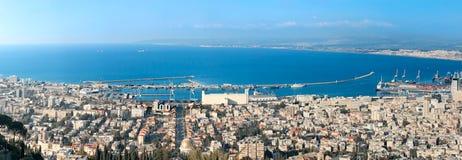 Haifa stad. Israel Arkivfoto
