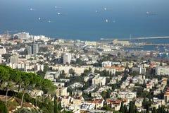 Haifa-Stadt Lizenzfreies Stockbild