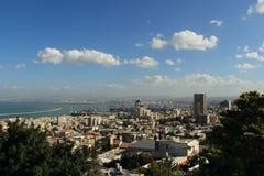 Haifa-Stadtansicht von Carmel-Berg Lizenzfreies Stockfoto