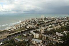Haifa-Stadtansicht von Carmel-Berg Lizenzfreie Stockbilder