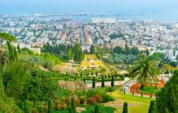Haifa vanaf de bovenkant royalty-vrije stock foto's