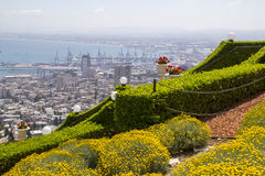 Haifa View Gardens ,Israel Royalty Free Stock Photo