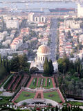 Haifa view of the Shrine of Bab and port 2003 Royalty Free Stock Photo