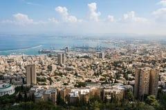 Haifa from Yefe Nof promenade Stock Images