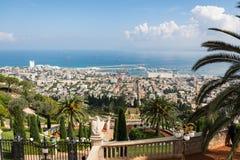 Haifa from Yefe Nof promenade Royalty Free Stock Photo