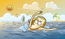 Haifisch-Angriff Stockbild