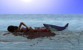 Haifisch-Angriff stock abbildung