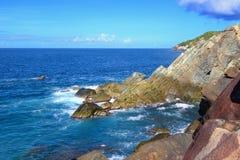 Haifisch-Bucht-Nationalpark Tortola lizenzfreies stockfoto