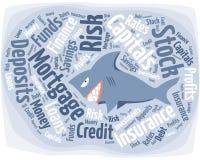 Haifisch in der Finanzwelt Stockfotografie