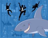 Haifisch des großen Geschäfts Lizenzfreie Stockfotografie