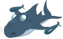 Haifisch ein Torpedo Stockfotografie