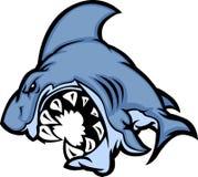 Haifisch-Maskottchen-Karikatur-Bild Lizenzfreies Stockfoto