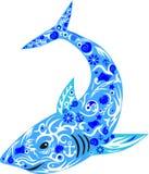 Haifisch mit Zeichnung auf einem Körper, Stockfotos