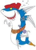 Haifisch-Pirat Lizenzfreie Stockfotografie