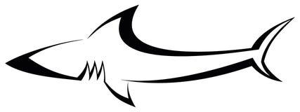 Haifisch - Tätowierung vektor abbildung