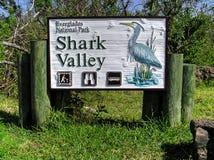 Haifisch-Talzeichenbrett im Everglades-Nationalpark stockfoto