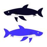 Haifisch-Vektor-Illustration Lizenzfreie Stockfotografie