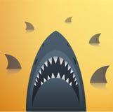 Haifisch-Vektor-Illustration Lizenzfreies Stockbild