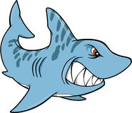 Haifisch-vektorabbildung stock abbildung