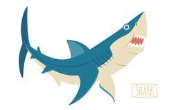 Haifisch, Vektorkarikaturillustration Stockfoto
