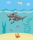 Haifischangriff Stock Abbildung