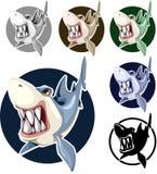 Haifische eingestellte sortierte Farben im Kreis vektor abbildung
