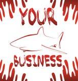 Haifischgeschäft lizenzfreie abbildung