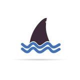 Haifischikonen-Vektorillustration Lizenzfreies Stockbild