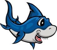 Haifischkarikatur für Sie Entwurf Stockfotos