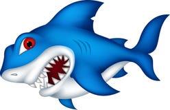 Haifischkarikatur für Sie Entwurf Stockbilder