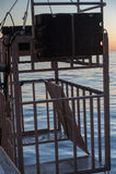 Haifischkäfig, zum des großen Weiß zu beobachten Lizenzfreie Stockbilder