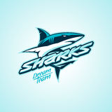 Haifischlogo für einen Verein oder ein Sportteam Stockbild