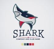 Haifischlogosportextrem und -geschäft Stockfotos