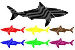 Haifischschattenbildvektor Stockbilder