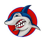 Haifischsymbol Lizenzfreie Stockfotos