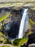 Haifoss Flowing through the earth. stock images