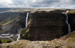 Haifoss waterfall Royalty Free Stock Photo