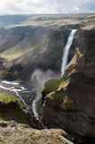 Haifoss waterfall. Is second tallest in Iceland - 122 m Royalty Free Stock Photos