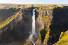 Haifoss waterfall. The Haifoss waterfall in the Pjorsardal, Iceland Stock Photography