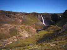 Haifoss, zuidelijk IJsland Royalty-vrije Stock Afbeelding