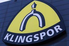 Haiger, hesse/Germania - 17 11 18: fabbrica di klingspor nel haiger Germania immagini stock