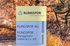 Haiger, Hessen/Deutschland - 17 11 18: klingspor Fabrik im haiger Deutschland lizenzfreie stockbilder