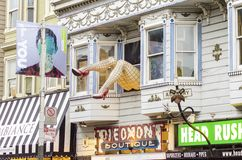Haight Ashbury, San Francisco Arkivbild