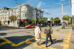 Haight-Ashbury in San Francisco, CA Royalty Free Stock Image