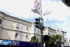 Haight Ashbury On A Spring Day stock photo