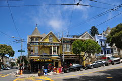 Haight Hasbury in San Francisco Stockbilder