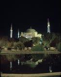Haigia Sophia alla notte Fotografia Stock
